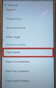 clear Snapchat cache
